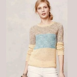 Giuliana Leila Anthro Sz M Color Block Sweater